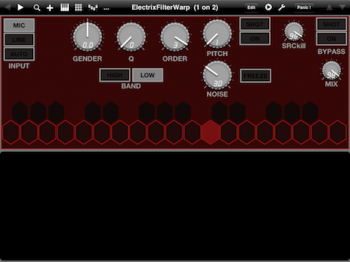 Electrix Warp Factory ipad editor